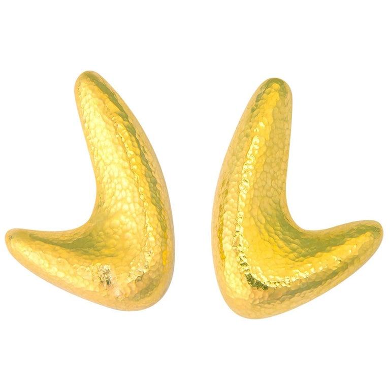 Classic Ilias Lalaounis Gold Earrings