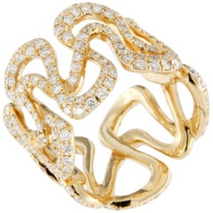 Jona Diamond Yellow Gold Band Ring