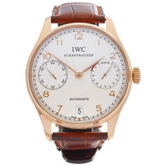IWC Rose Gold Portuguese Automatic Wristwatch Ref W3832, 2008