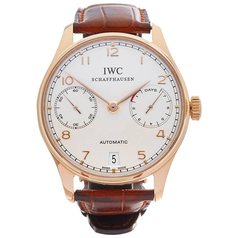 IWC Rose Gold Portuguese Automatic Wristwatch Ref W3832, 2008