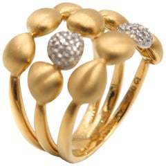 """Happy Bubbles"" Triple Row Gold Band"