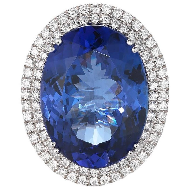 tanzanite certified mw standard oval blue auctions pg