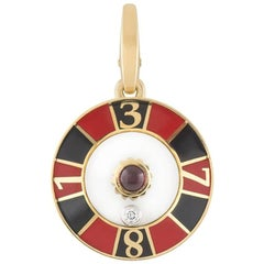 Cartier Limited Edition Diamond Ruby Roulette Charm
