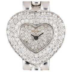 Chopard Ladies White Gold Diamond Set Heart Shaped quartz Wristwatch