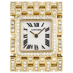 Cartier Ladies Yellow Gold Diamond Set Panthere Ruban Quartz wristwatch