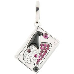 Cartier Limited Edition Joker Playing Card Diamond Charm
