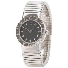 Bulgari Stainless Steel Tubogas Wristwatch, circa 1980