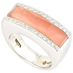 Stephen Webster Crystal Haze Coral and Diamond Ring