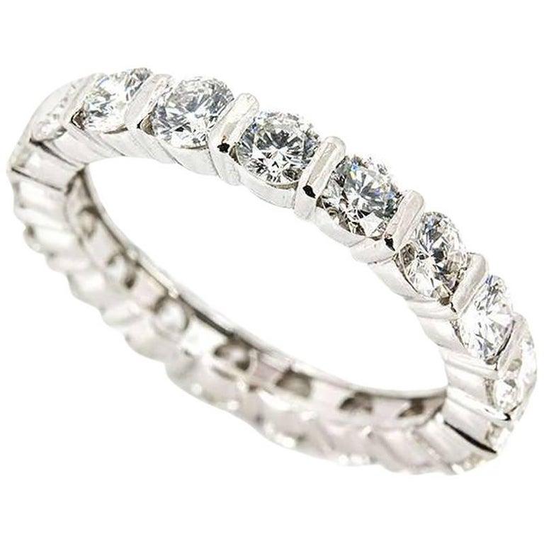 White Gold Diamond Full Eternity Ring 1.90 Carat