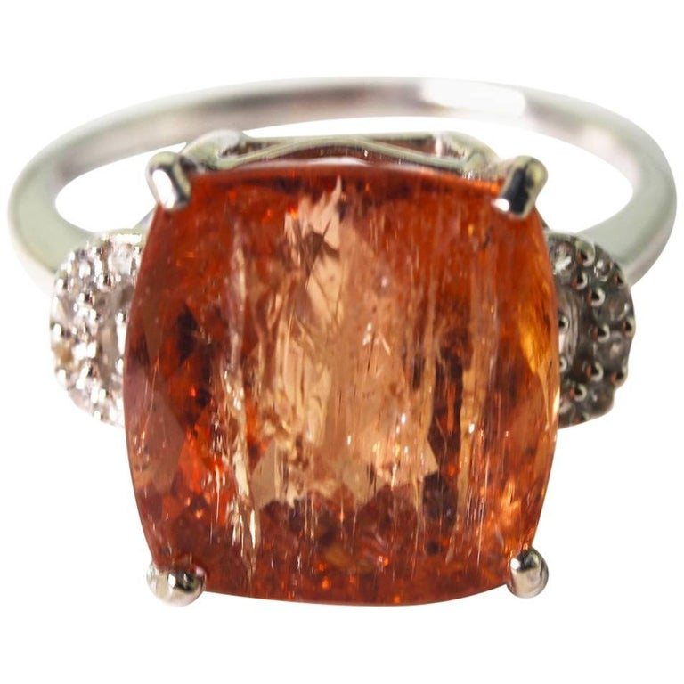 8,2 Carat Splendid Imperial Topaz Sterling Silver Party Ring