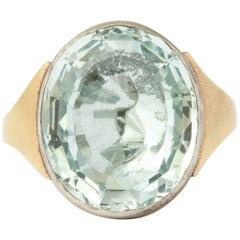Brilliant Georgian Aquamarine Ring