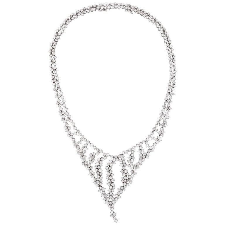 Diamond Cluster Bib Necklace