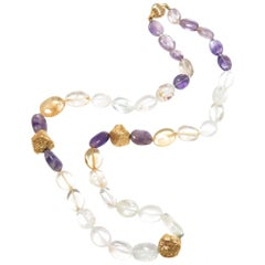 Lalaounis Gold and Gem Bead Necklace