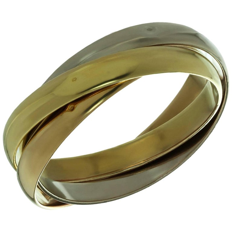 Cartier Trinity Tri-Gold Bangle Bracelet