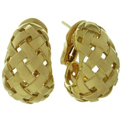 Tiffany & Co. Vannerie Yellow Gold Wrap Earrings