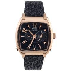Oris Rose Gold Frank Sinatra Worldtimer Limited Edition Wristwatch