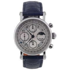 Chronoswiss stainless steel Lunar Chronograph automatic wristwatch