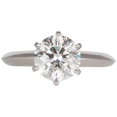 Tiffany & Co. GIA Diamond and Platinum Solitaire Engagement Ring 2.00 Carat