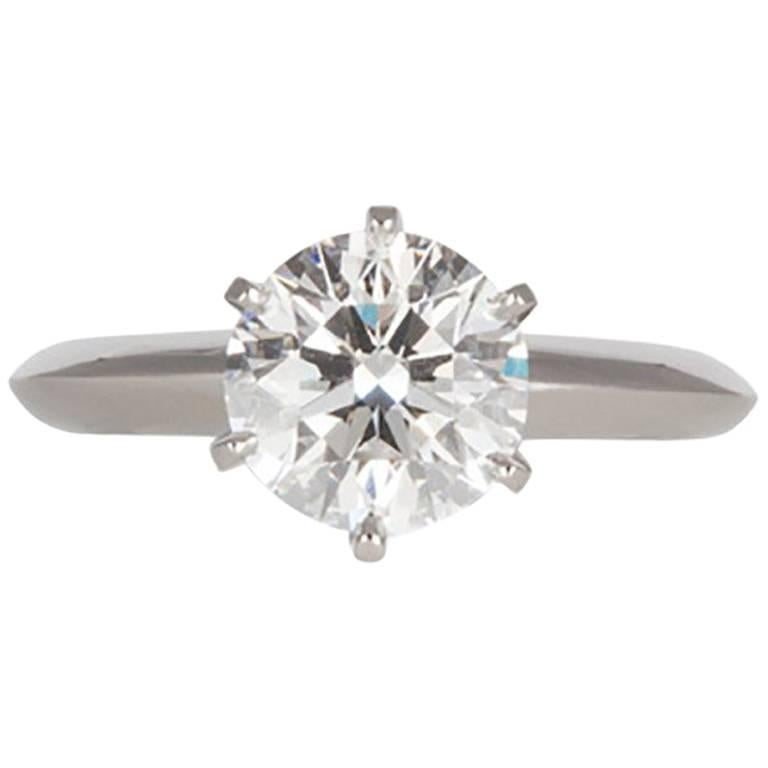 Tiffany and Co GIA Diamond and Platinum Solitaire Engagement Ring 2 00 Carat