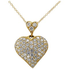 Heart Shaped Diamond Pave Pendant