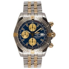 Breitling yellow Gold Stainless Steel Chronomat Evolution Automatic Wristwatch
