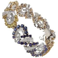 Luise Sapphire and Diamond Retro Bracelet
