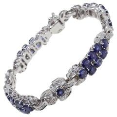 Luise Diamonds and Blue Sapphires Link Bracelet