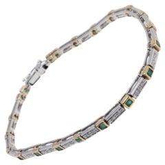 Luise Emeralds and Diamonds Tennis Bracelet