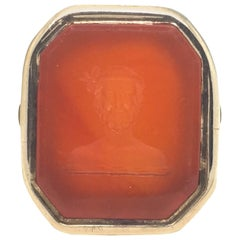 Emperor Caracalla Victorian Carnelian Intaglio Seal Ring