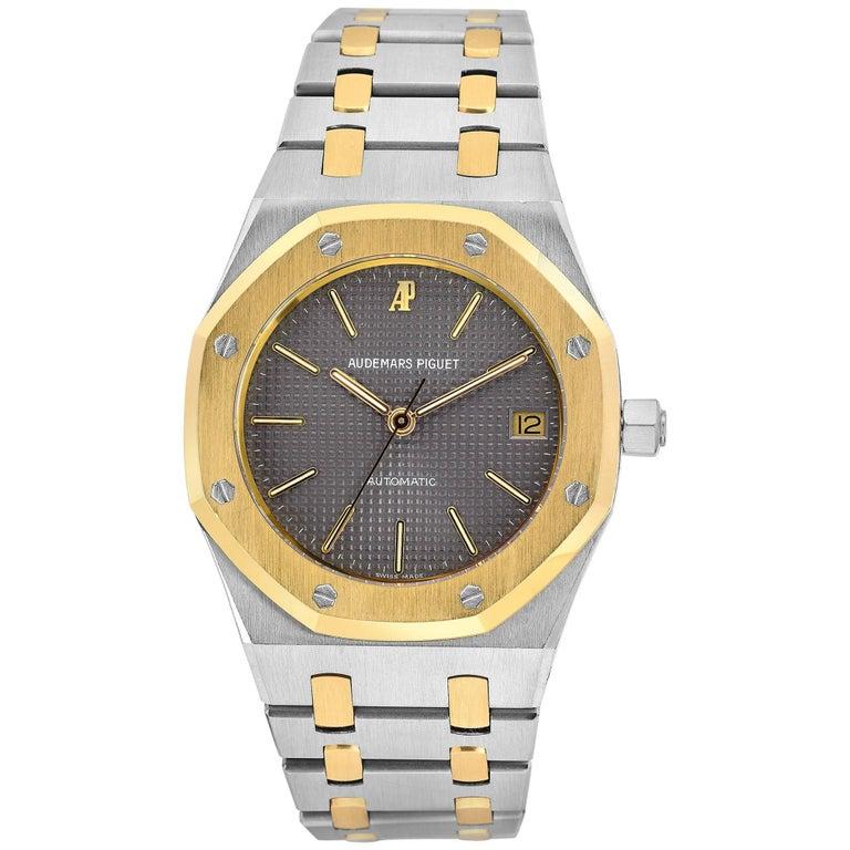 b68f17f74990d Audemars Piguet Yellow Gold Stainless Steel Royal Oak Automatic Wristwatch