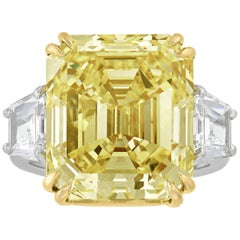 Fancy Yellow Diamond Ring, 16.57 Carat