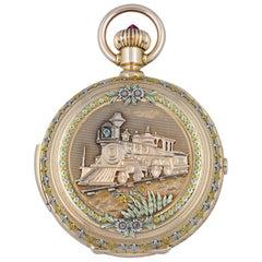 Jules Jurgensen Multi-Color Gold Minute Repeating Chronograph Pocket Watch