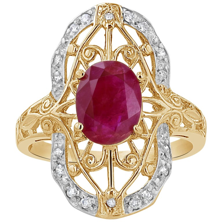 1 89 carat ruby and deco ring at 1stdibs