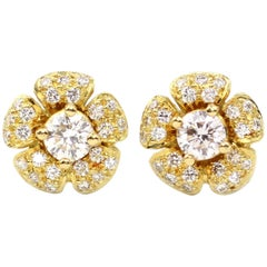 Julius Cohen Diamond Flower Earrings