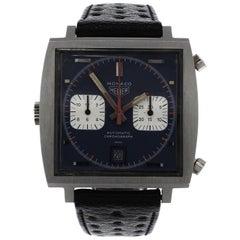Heuer Monaco Stainless Steel Chronograph Steve McQueen Wristwatch, circa 1971