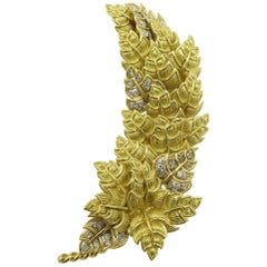 Tiffany & Co. Yellow Gold and Diamond Brooch