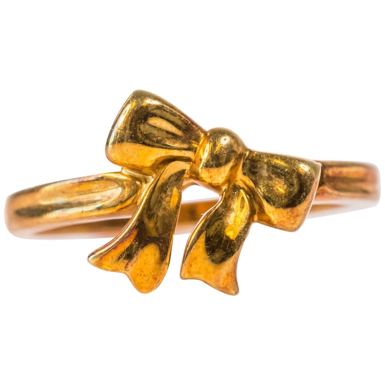 Tiffany & Co. 18K Gold Ribbon Bow Ring