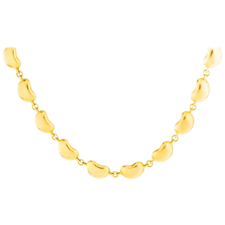 Tiffany & Co. Elsa Peretti Bean Collection 18K Gold Link Necklace