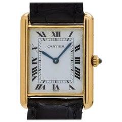 Cartier Yellow Gold Must de Cartier Tank Louis Quartz Wristwatch, circa 1990s
