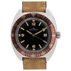 Bucherer Stainless Steel Diver Automatic Wristwatch, circa 1970s