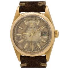 Rolex Yellow Gold President Day Date Automatic Wristwatch Ref 18038, circa 1990
