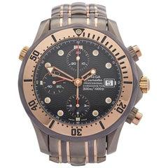 Omega Titanium Yellow Gold Seamaster Automatic Wristwatch, 2000s