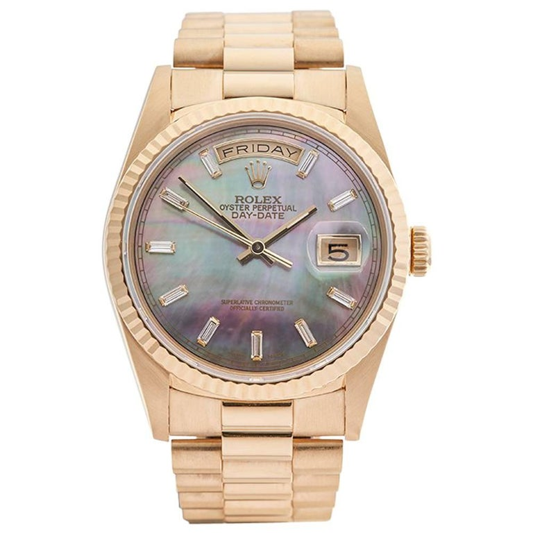 Rolex Yellow Gold Day-Date Automatic Wristwatch Ref 18238, 1993