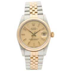 Rolex Ladies Yellow Gold Stainless Steel Datejust Automatic Wristwatch, 1989