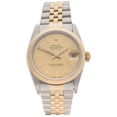 Rolex Ladies Yellow Gold Stainless Steel Datejust Automatic Wristwatch, 1993