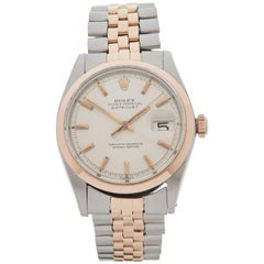 Rolex Rose Gold Stainless Steel Datejust Automatic Wristwatch Ref 1600, 1965