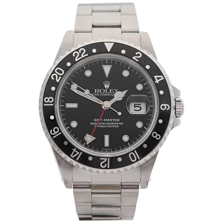 Rolex Stainless Steel GMT Master Automatic Wristwatch Ref 16700, 1997
