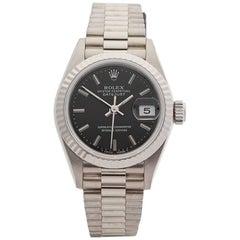 Rolex Ladies White Gold Datejust Automatic Wristwatch Ref 69179, 1990