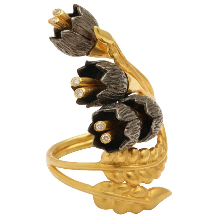 Rebecca Koven Lily of the Valley Ring For Sale