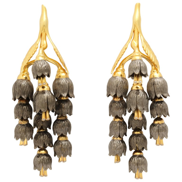 Rebecca Koven Lily of the Valley Earrings For Sale